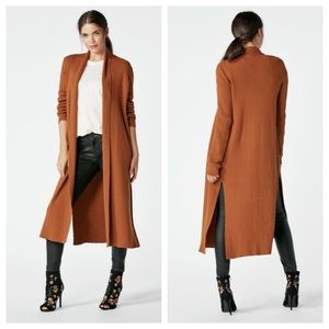 NWT JustFab Long-Lined Open Front Duster Cardigan